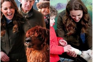 Duchess of Cambridge Kate Middleton visited The Ark Farm in Northern Ireland