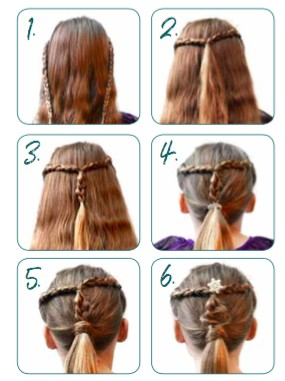 Easy Christmas hairstyle for girls